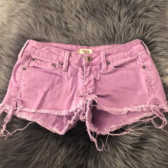 Pants - Purple Jean Short Shorts 💜